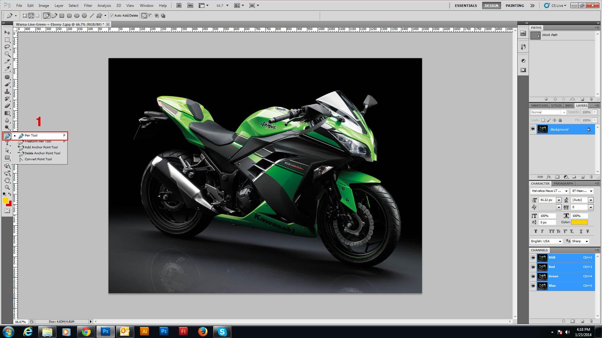 Tutorial Sederhana Pewarna An Body Motor Di Photoshop Untuk Modif