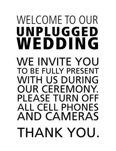 78  images about Unplugged Wedding on Pinterest   Wedding