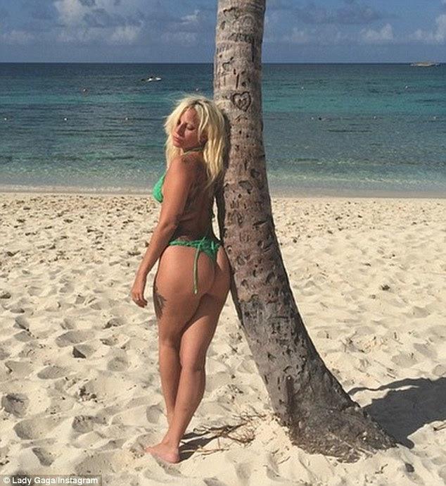 Gaga captioned a beach snap to her combined 116.8M followers on social media: 'I take a Bahama mama...Work hard, play hard. Work hard again, play harder'