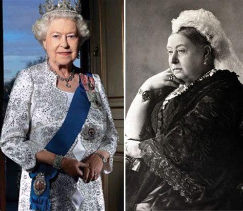 Isabel II y Victoria de Inglaterra   Realeza / Royalty