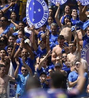 Torcida do Cruzeiro, no Mineirao (Foto: Douglas Magno)