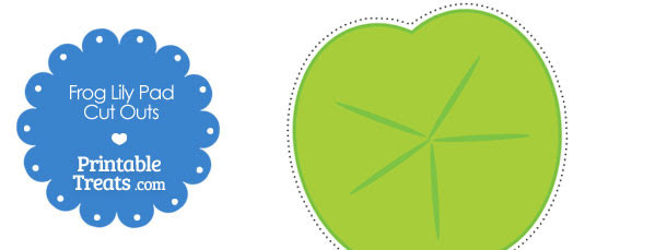 free printable frog lily pad cut outs 610x229