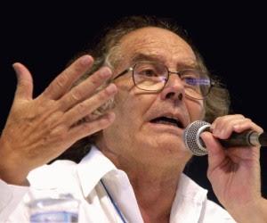 El Premio Nobel argentino, Adolfo Pérez Esquivel.