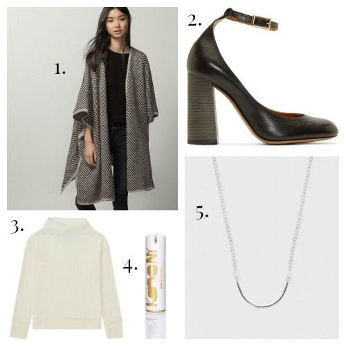 Massimo Dutti Cape - Chloe Shoes - Uniqlo Tee Shirt - Kane NY Serum - WWAKE Necklace