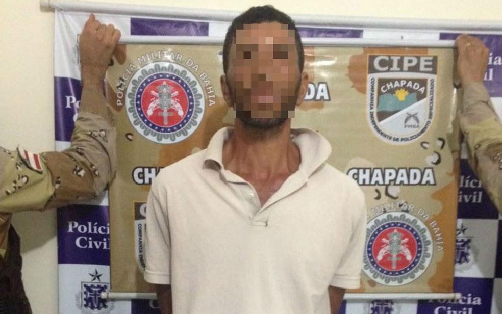 Suspeito de envolvimento em explosão de agência bancária em Mairi foi preso (Foto: Divulgação/SSP-BA)