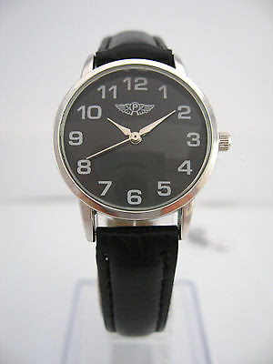 Prince London Trendy Fashion Ladies Watch Small Face Faux Leather Strap