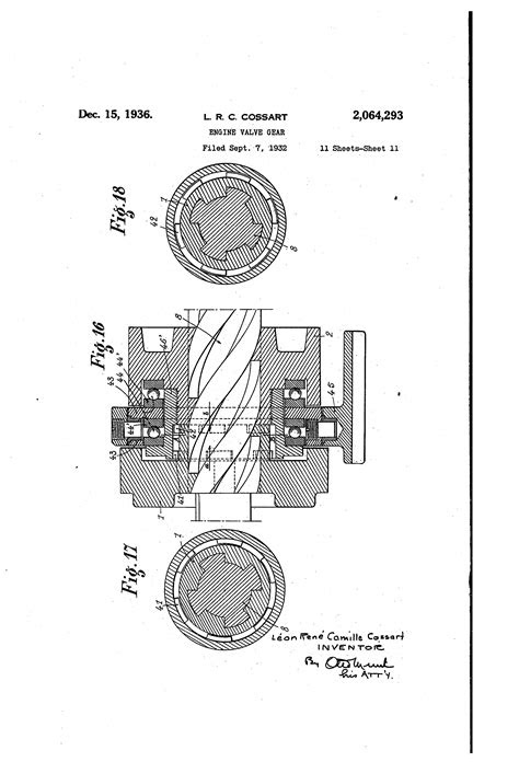 Patent US2064293 - Engine valve gear - Google Patents