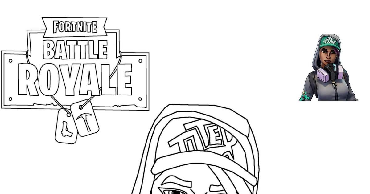 Coloriage Fortnite Graffeuse.Coloriage Rook Fortnite Girl