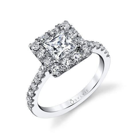 Princess Cut Halo Diamond Engagement Ring: Sylvie