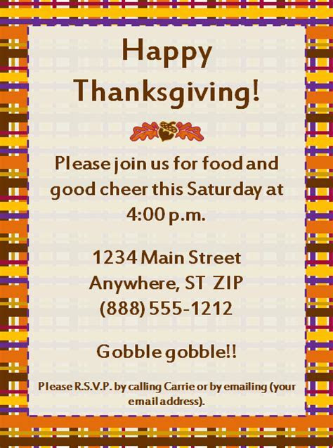 Thanksgiving Party Invitation ? Party Ideas