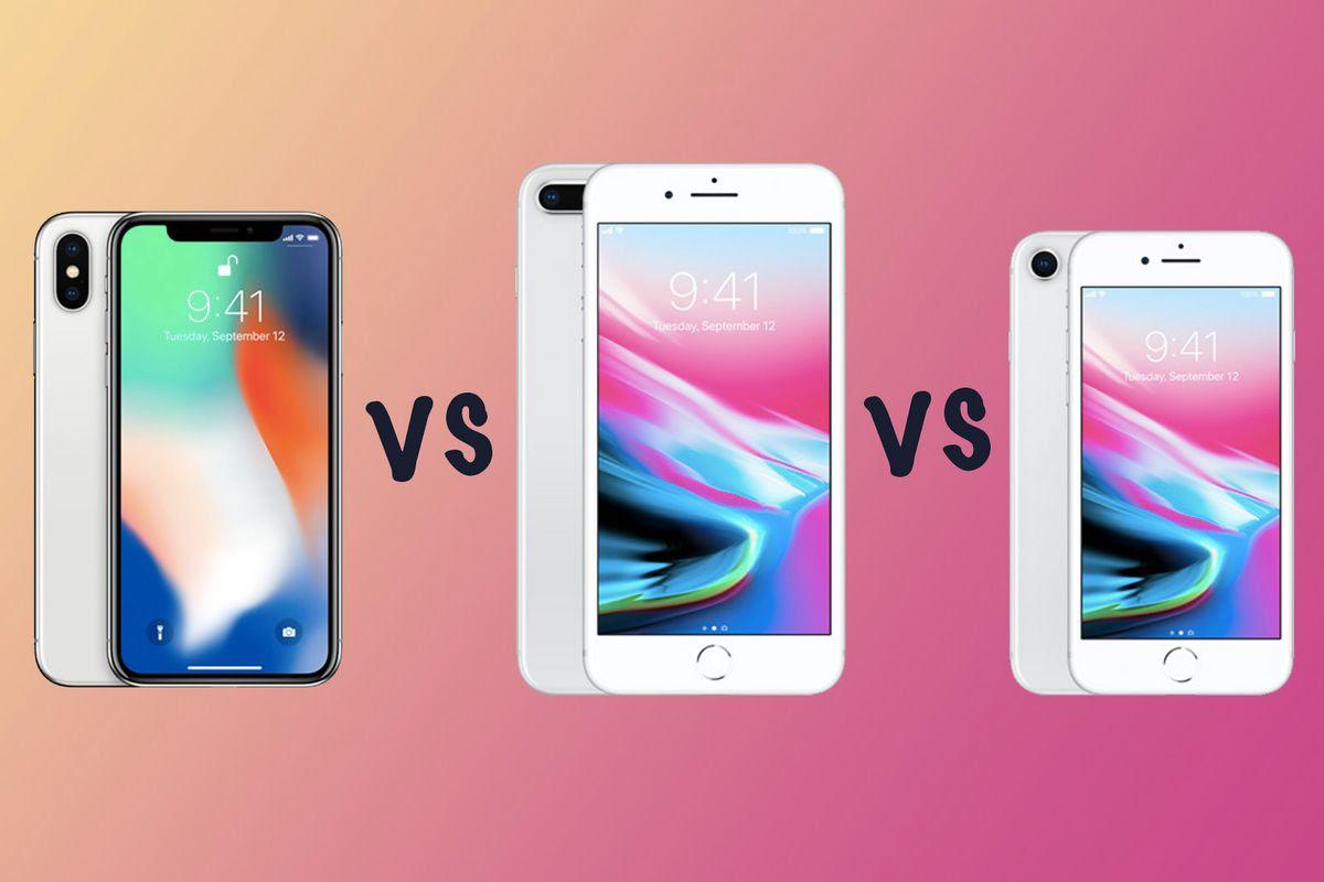 Compare iPhone X vs iPhone 8 Plus vs iPhone 8