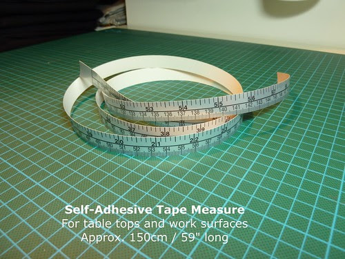 Self adhesive measuring tape