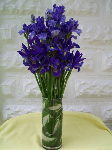 wedding flower arrangements with iris'   Iris Buffet Table