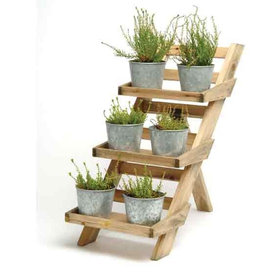 Wooden 3 tier pot stand from Garden Trading   Outdoor pots   Plant ...