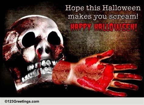 Halloween Scream! Free Horror eCards, Greeting Cards   123
