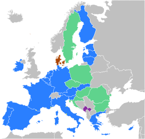 Eurozone map, updated January 2009 {{legend|#0...