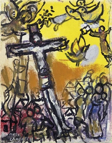 Image result for marc chagall crucifixion paintings