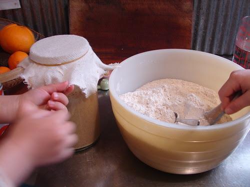 making sourdough bread