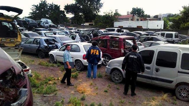 Tandil. En la Argentina se roban 160 autos por día, y la mayor parte va a parar a desarmaderos, como éste, en el que había 1000 autos; pero las autoridades ignoran cuántos desarmaderos hay