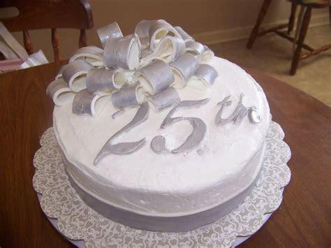 Anniversary Cakes   25th Wedding Anniversary Cake