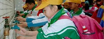 Photo: Children washing hands
