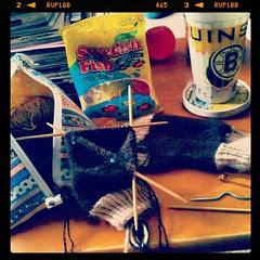 #noelectricity #knitting #swedishfish #getyourkniton