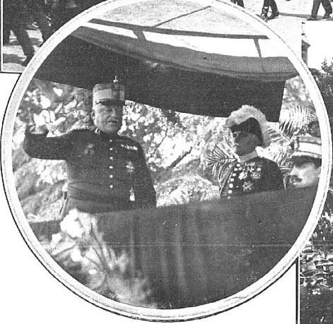 Primo de Rivera y Alfonso XIII en la inauguración del monumento al Comandante Villamartín en Toledo (mayo de 1925)