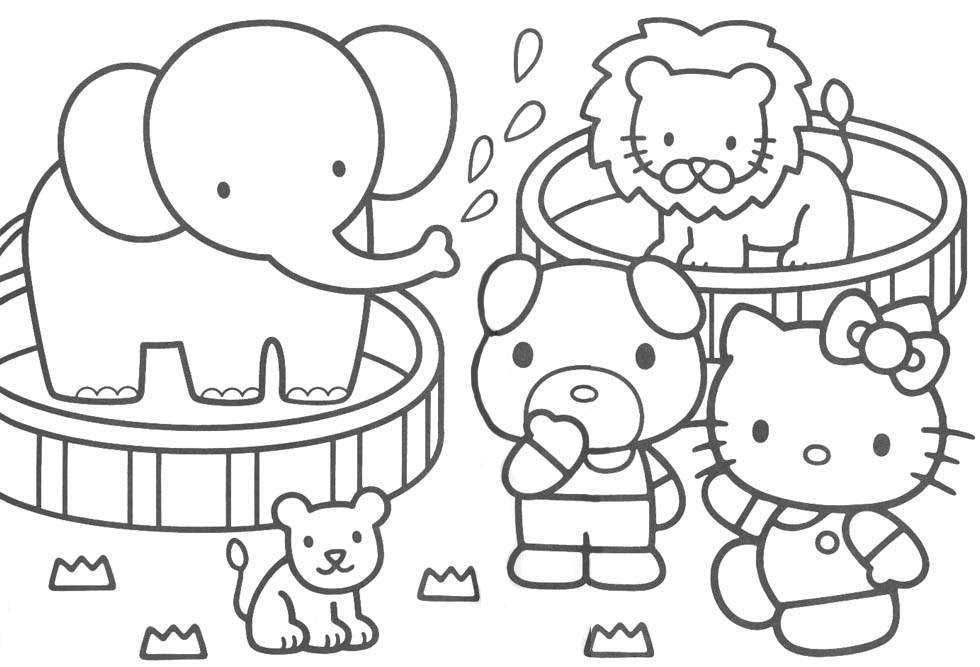 Coloring Blog For Kids Hello Kitty Coloring Pages Az Colorare