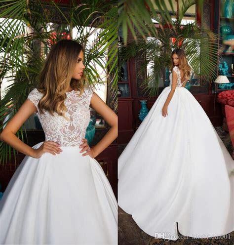 Discount =Cheap 2018 Wedding Dresses Vintage Lace Satin