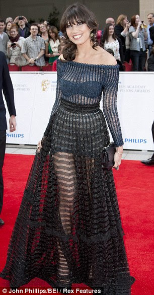Lowe blow: Model Daisy Lowe, in Craig Lawrence at the Baftas last year, looks old before her time in a dowdy dress that does nothing for her curves