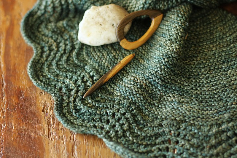 little house shawl with wooly moss roots shawl pin