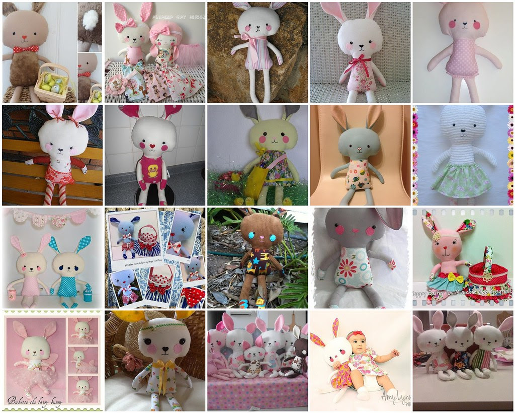 Easter Bunny Rabbit Sewing Pattern Dolls And Daydreams Happy Customers