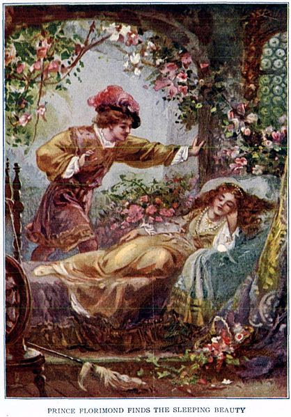 Ficheiro:Prince Florimund finds the Sleeping Beauty - Project Gutenberg etext 19993.jpg