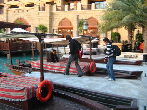 Taking the boat to Al Qasr
