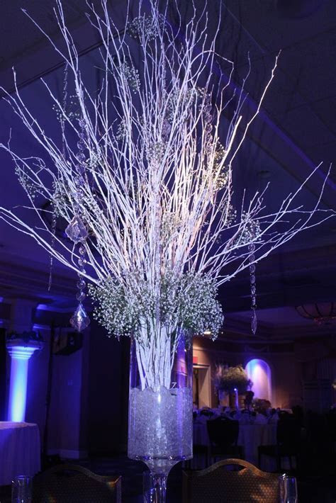 Christmas wedding, White christmas and Birch branches on