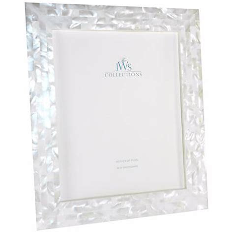 White Mother of Pearl 8x10 Photo Frame   #W5091   Lamps Plus