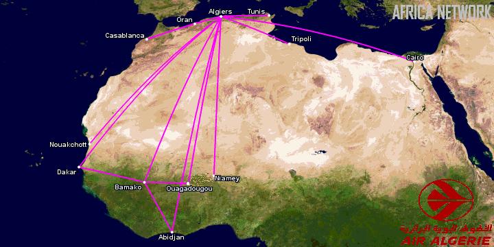 Air Algérie's Africa Network
