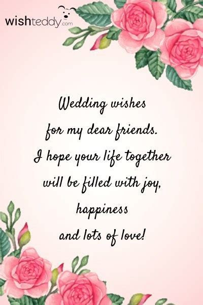 Wedding wishes for my dear friends