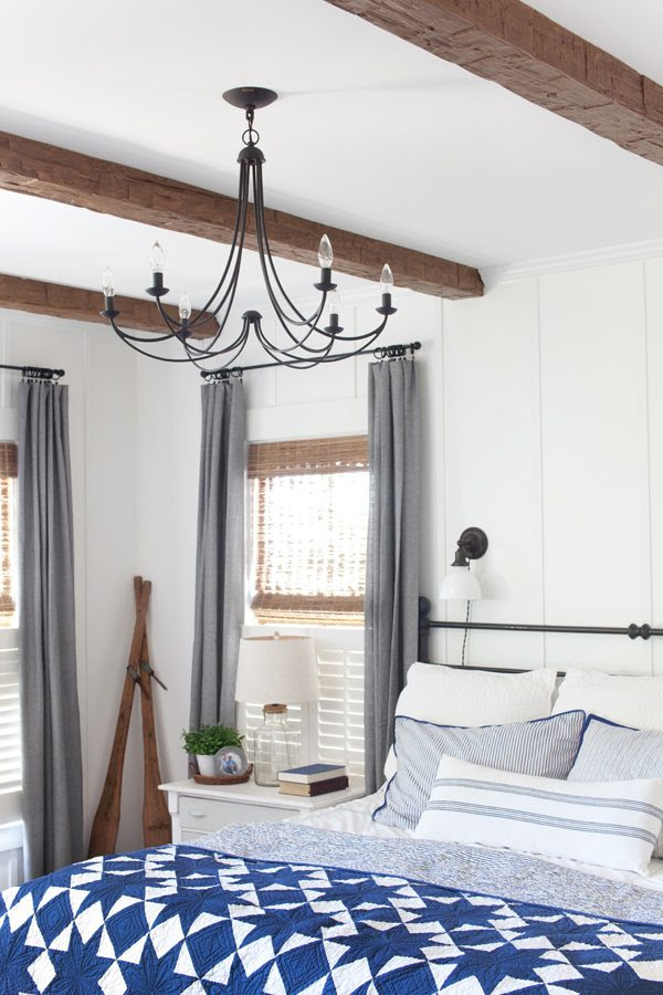 Master Bedroom Update: Faux Wood Beams | The Lettered Cottage