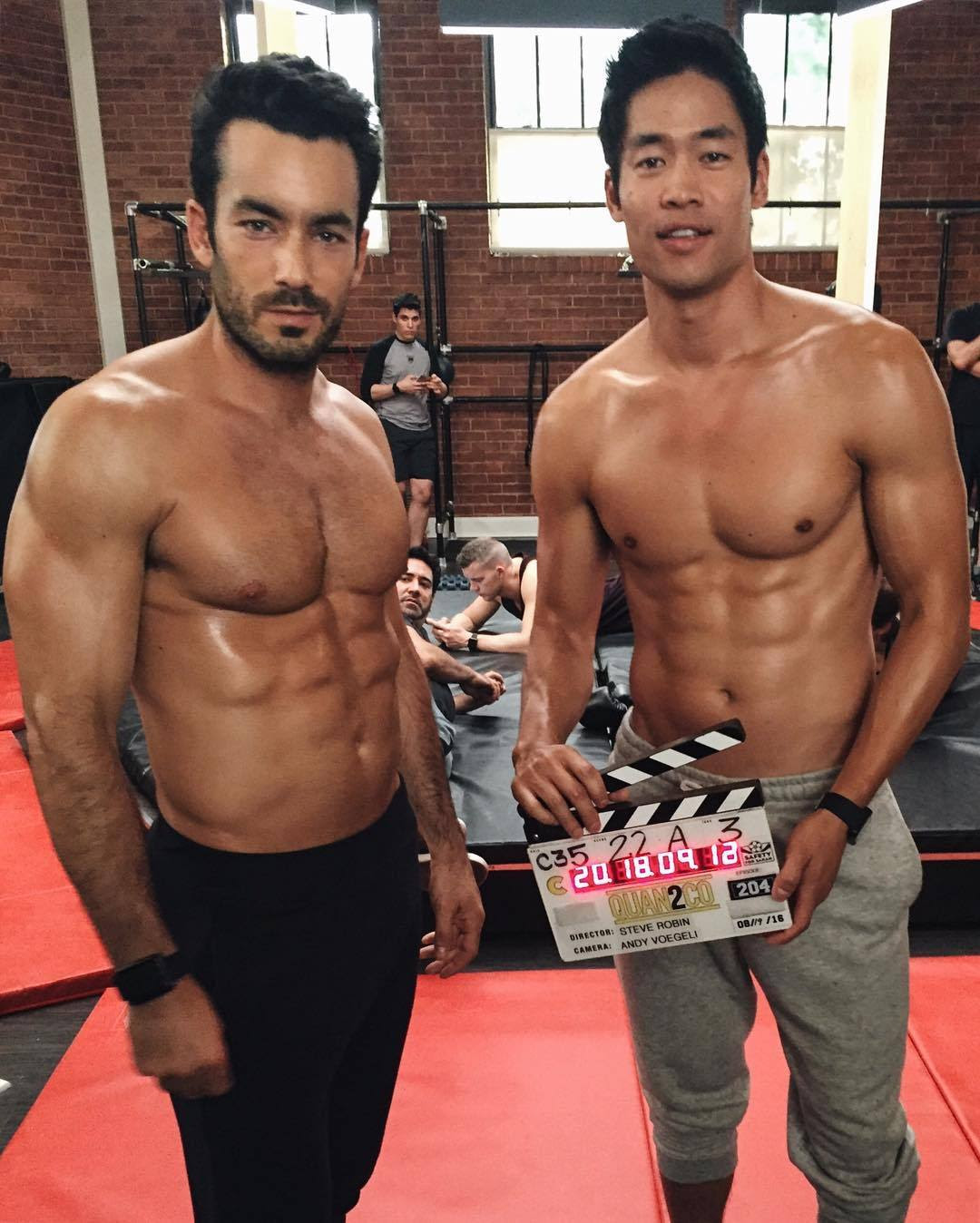 "matt-daddaryo: "" davidbradleylim: Get your sweat on tonight with me, @aarondiaz and the rest of the #Quantico gang, 10/9c on ABC. """
