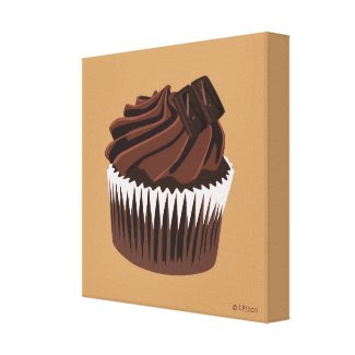 Chocolate Cupcake Canvas Print wrappedcanvas
