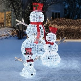 Awesome Lighted Outdoor Snowman Decorations Photos