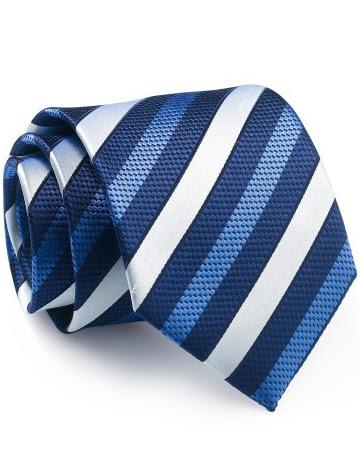 Mẫu Cravat Đẹp 14 - Màu Sọc Trắng Xanh