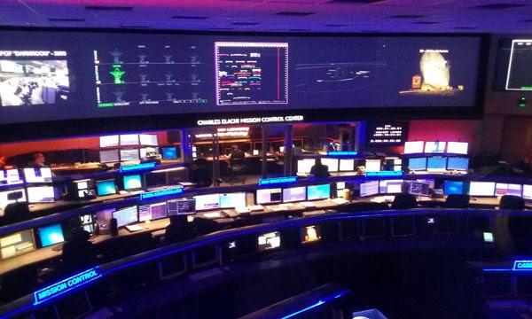 A snapshot that I took inside the historic Space Flight Operations Facility at NASA's Jet Propulsion Laboratory near Pasadena, California...on May 30, 2018.