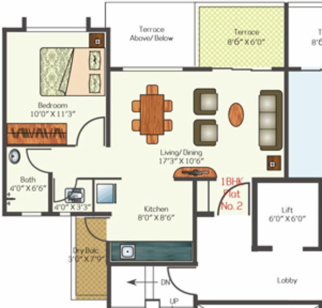 MH14 - Talegaon - 1 BHK Flat - with entrance lobby - 479 carpet -