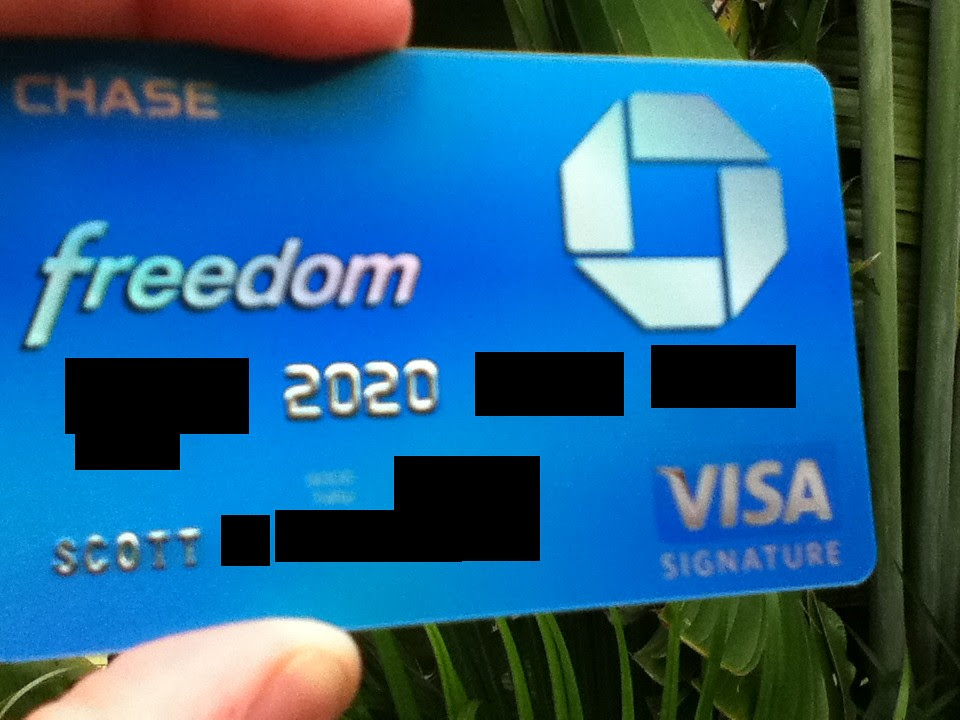 what a chase freedom visa signature looks like - myFICO® Forums - 1020536