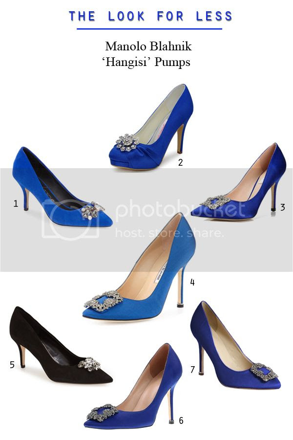 Manolo Blahnik Hangisi jeweled wedding pumps look for less as seen on Carrie Bradshaw from Sex and The City