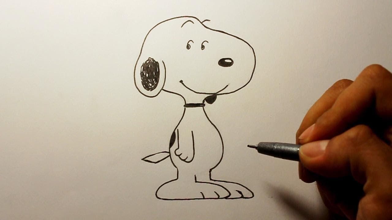 Wie zeichnet man Snoopy Peanuts zeichen tutorial - YouTube