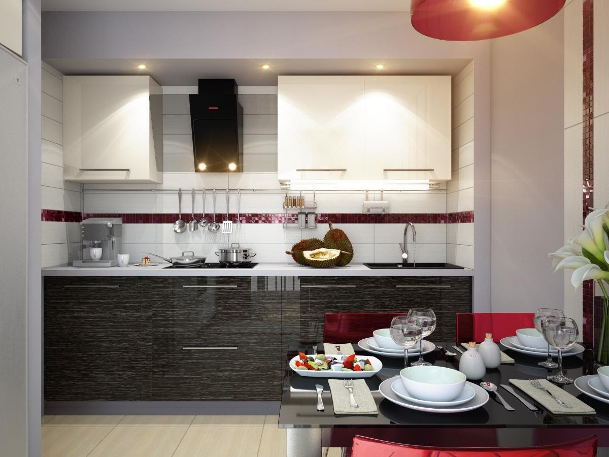Kitchen Dining Designs: Inspiration and Ideas red white black ...