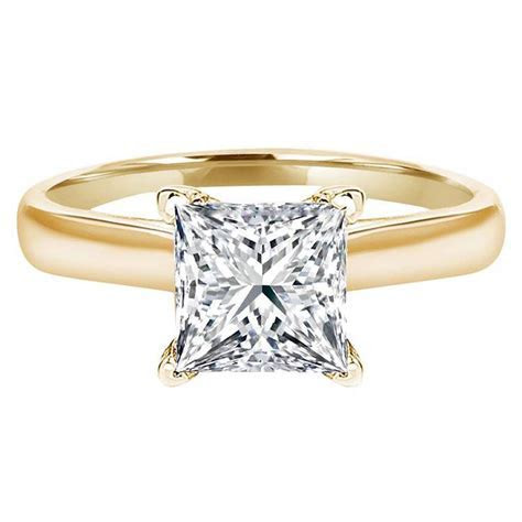 1.5 Princess Cut Solitaire Engagement Wedding Promise Ring